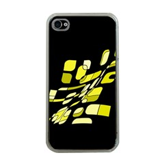 Yellow abstraction Apple iPhone 4 Case (Clear)
