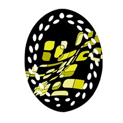 Yellow abstraction Ornament (Oval Filigree)