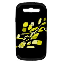 Yellow abstraction Samsung Galaxy S III Hardshell Case (PC+Silicone)