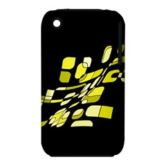 Yellow abstraction Apple iPhone 3G/3GS Hardshell Case (PC+Silicone)