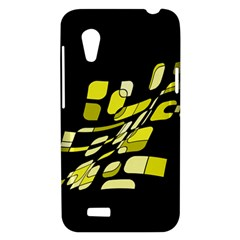 Yellow abstraction HTC Desire VT (T328T) Hardshell Case