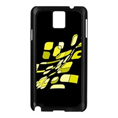 Yellow abstraction Samsung Galaxy Note 3 N9005 Case (Black)