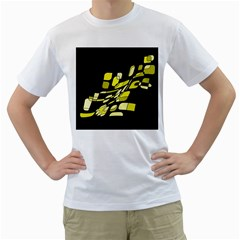 Yellow abstraction Men s T-Shirt (White)