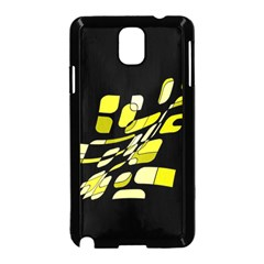 Yellow abstraction Samsung Galaxy Note 3 Neo Hardshell Case (Black)
