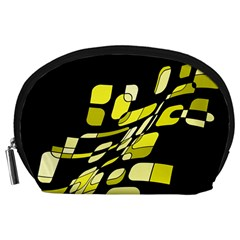 Yellow abstraction Accessory Pouches (Large)