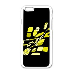Yellow abstraction Apple iPhone 6/6S White Enamel Case