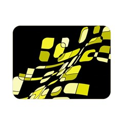 Yellow abstraction Double Sided Flano Blanket (Mini)