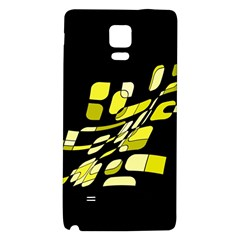 Yellow abstraction Galaxy Note 4 Back Case