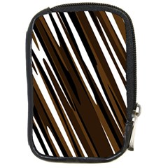 Black Brown And White Camo Streaks Compact Camera Cases