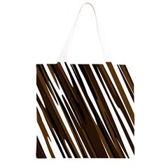 Black Brown And White Camo Streaks Grocery Light Tote Bag