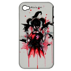 This Is Fine...  Apple iPhone 4/4S Hardshell Case (PC+Silicone)