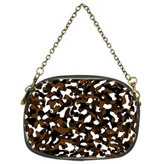 Black Brown And White camo streaks Chain Purses (One Side)