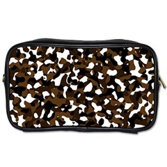 Black Brown And White camo streaks Toiletries Bags 2-Side