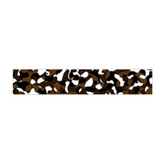 Black Brown And White camo streaks Flano Scarf (Mini)