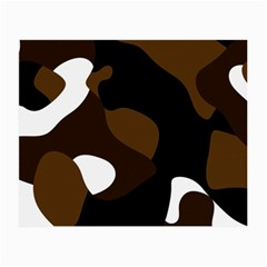 Black Brown And White Abstract 3 Small Glasses Cloth