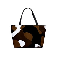 Black Brown And White Abstract 3 Shoulder Handbags