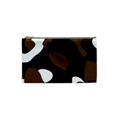 Black Brown And White Abstract 3 Cosmetic Bag (Small)