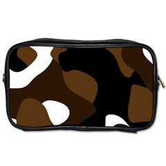 Black Brown And White Abstract 3 Toiletries Bags 2-Side