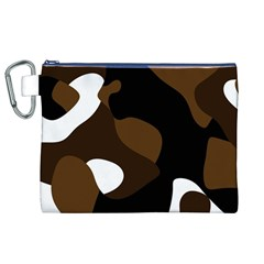 Black Brown And White Abstract 3 Canvas Cosmetic Bag (XL)