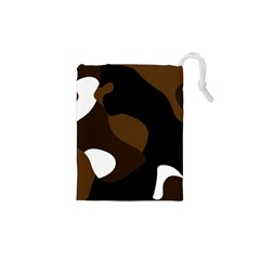 Black Brown And White Abstract 3 Drawstring Pouches (xs)