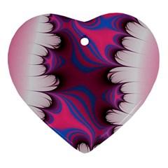 Liquid Roses Heart Ornament (2 Sides)