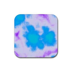 Blue And Purple Clouds Rubber Square Coaster (4 pack)