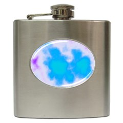 Blue And Purple Clouds Hip Flask (6 oz)