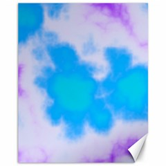 Blue And Purple Clouds Canvas 11  X 14