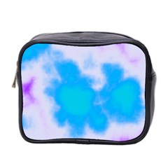 Blue And Purple Clouds Mini Toiletries Bag 2-Side