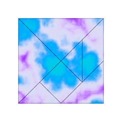 Blue And Purple Clouds Acrylic Tangram Puzzle (4  x 4 )