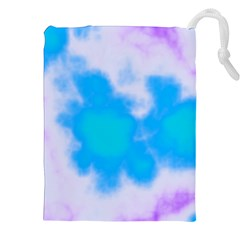 Blue And Purple Clouds Drawstring Pouches (XXL)