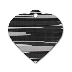 Gray Camouflage Dog Tag Heart (One Side)