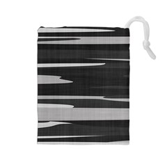 Gray Camouflage Drawstring Pouches (Large)