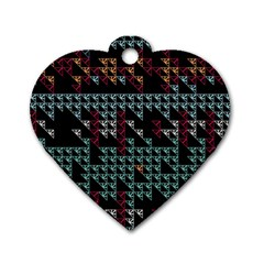 Triangles                                                                               Dog Tag Heart (One Side)