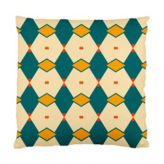 Blue yellow rhombus pattern                                                                                 	Standard Cushion Case (Two Sides)