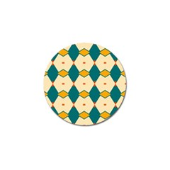 Blue yellow rhombus pattern                                                                                 			Golf Ball Marker