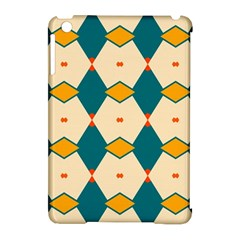 Blue yellow rhombus pattern                                                                                 			Apple iPad Mini Hardshell Case (Compatible with Smart Cover)