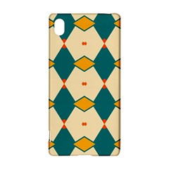Blue yellow rhombus pattern                                                                                 			Sony Xperia Z3+ Hardshell Case