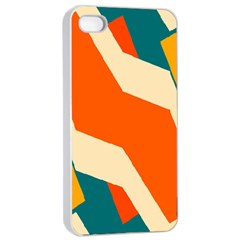 Shapes In Retro Colors                                                                                  			apple Iphone 4/4s Seamless Case (white)