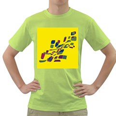 Yellow abstraction Green T-Shirt