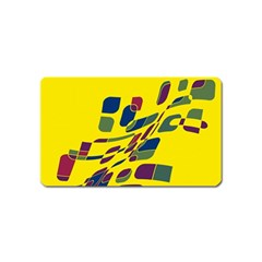 Yellow abstraction Magnet (Name Card)