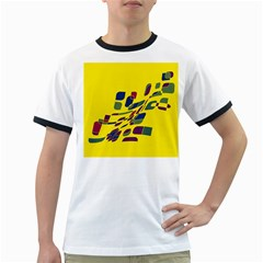 Yellow abstraction Ringer T-Shirts