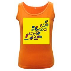 Yellow abstraction Women s Dark Tank Top
