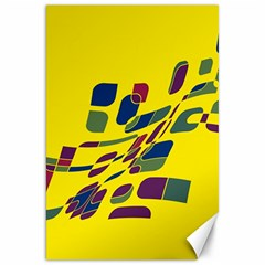Yellow abstraction Canvas 20  x 30