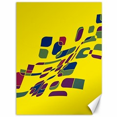 Yellow abstraction Canvas 36  x 48