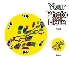 Yellow abstraction Playing Cards 54 (Round)