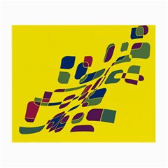 Yellow abstraction Small Glasses Cloth (2-Side)