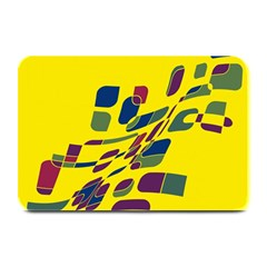 Yellow abstraction Plate Mats