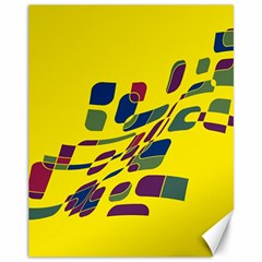 Yellow abstraction Canvas 11  x 14