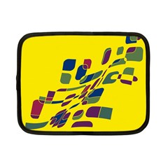 Yellow abstraction Netbook Case (Small)